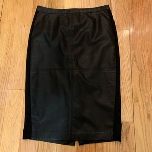 THE LIMITED Black Leather Skirt
